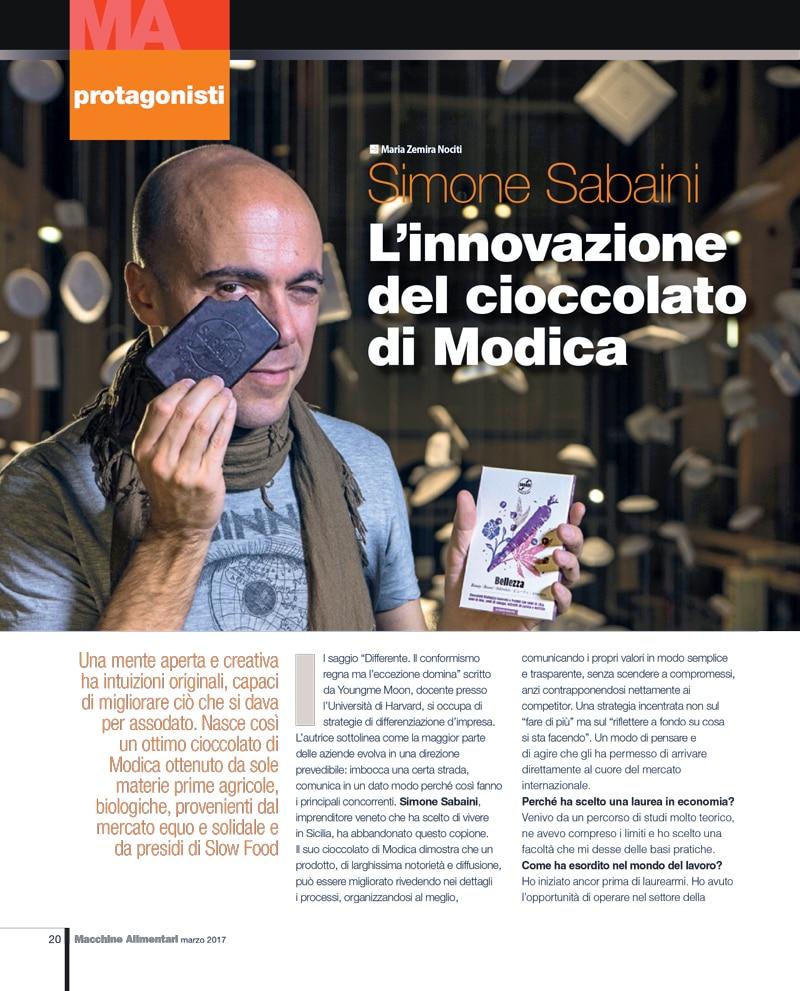 L'innovazione del cioccolato di Modica